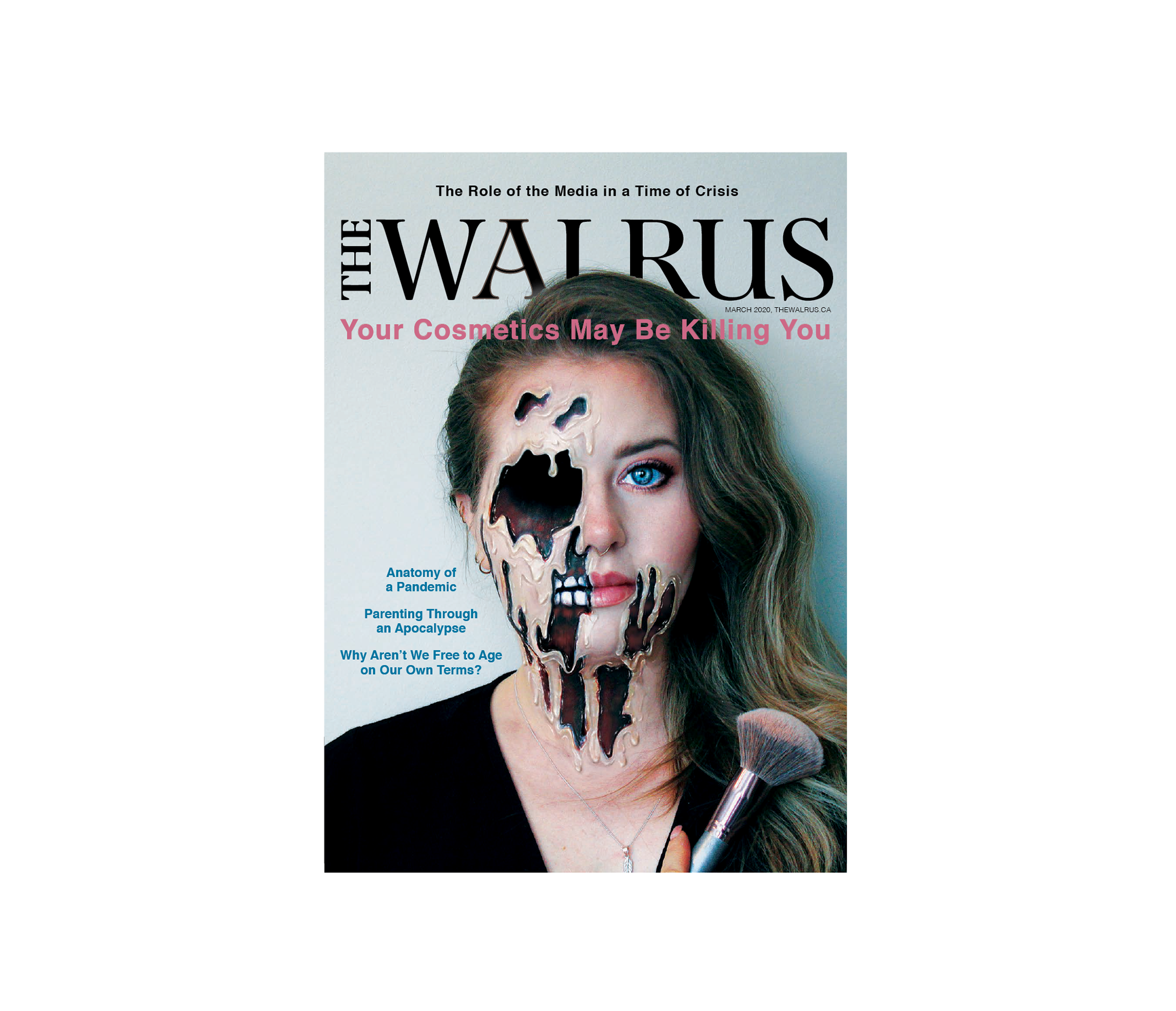 a close up of the walrus magazin cover headline your cosmetics may be killing you